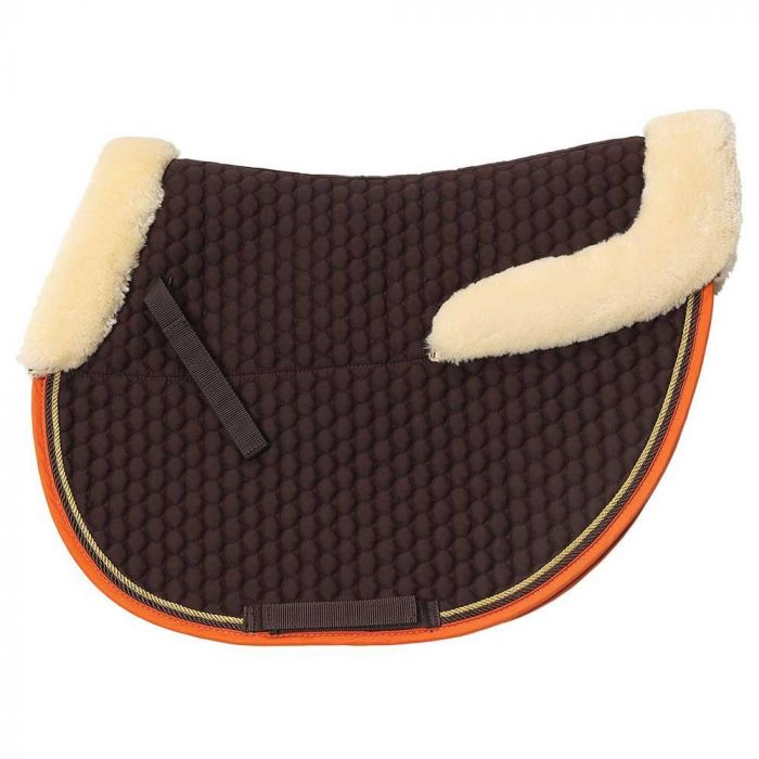 Zilco - Fleece Trim Jump Saddlecloth - Brown